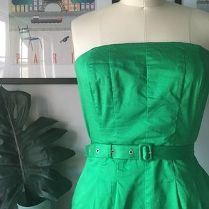 The Limited - Green Strapless Dress